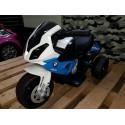Mini BMW S1000RR elektrische kindertrike 6 volt blauw / wit