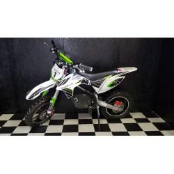 Elektrische crossmotor 36 volt lithium-ion accu groen