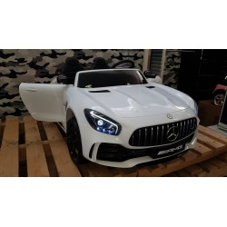 AMG  GTR Mercedes kinderauto 2 persoons 2×12 volt 2.4G RC 4WD wit