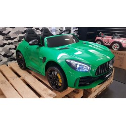AMG  GTR Mercedes kinderauto 2 persoons 2×12 volt 2.4G RC 4WD groen