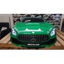 AMG GTR Mercedes kinderauto 2 persoons 2×12 volt 2.4G RC 4WD groen