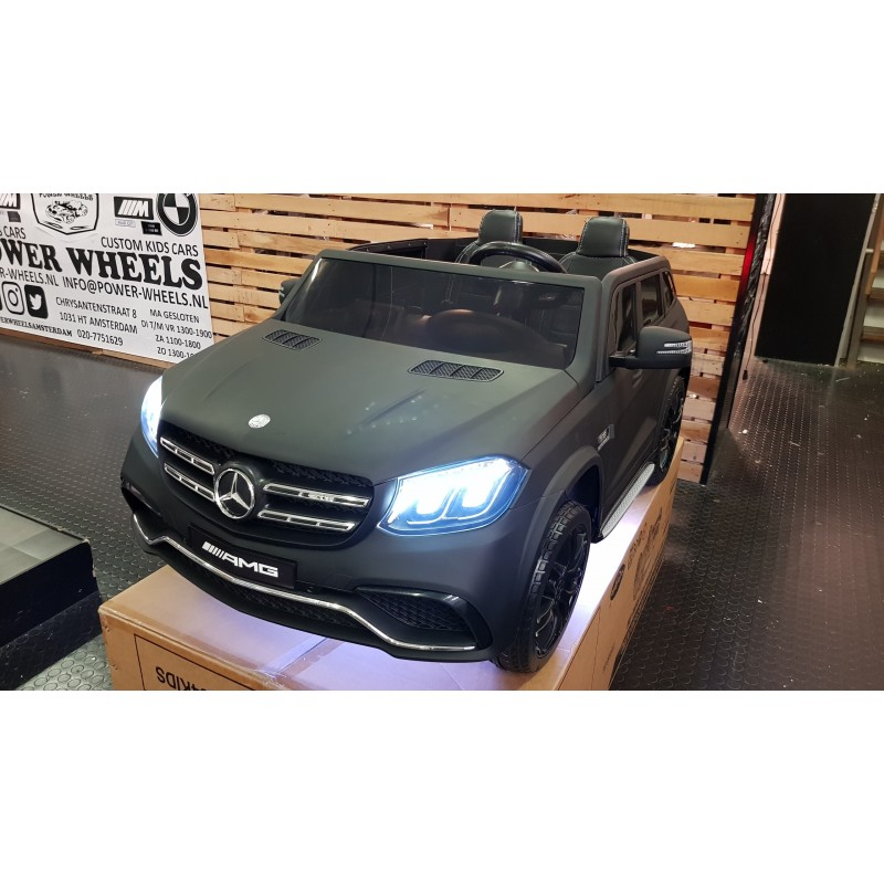 CUSTOM MADE GLS63 AMG ELEKTRISCHE KINDERAUTO LED WIT 12V 2.4G