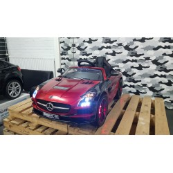 CUSTOM ELEKTRISCHE KINDERAUTO MERCEDES SLS CANDY RED 12V 2.4G