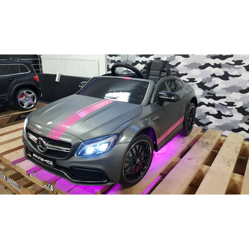 custom mercedes c63s amg coupe elektrische kinderauto 12v 2 4g. Black Bedroom Furniture Sets. Home Design Ideas