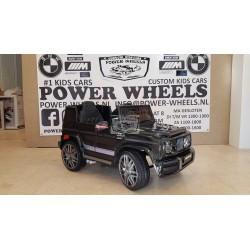 Mercedes Benz G63 AMG elektrische kinderauto 12v 2.4G zwart metallic