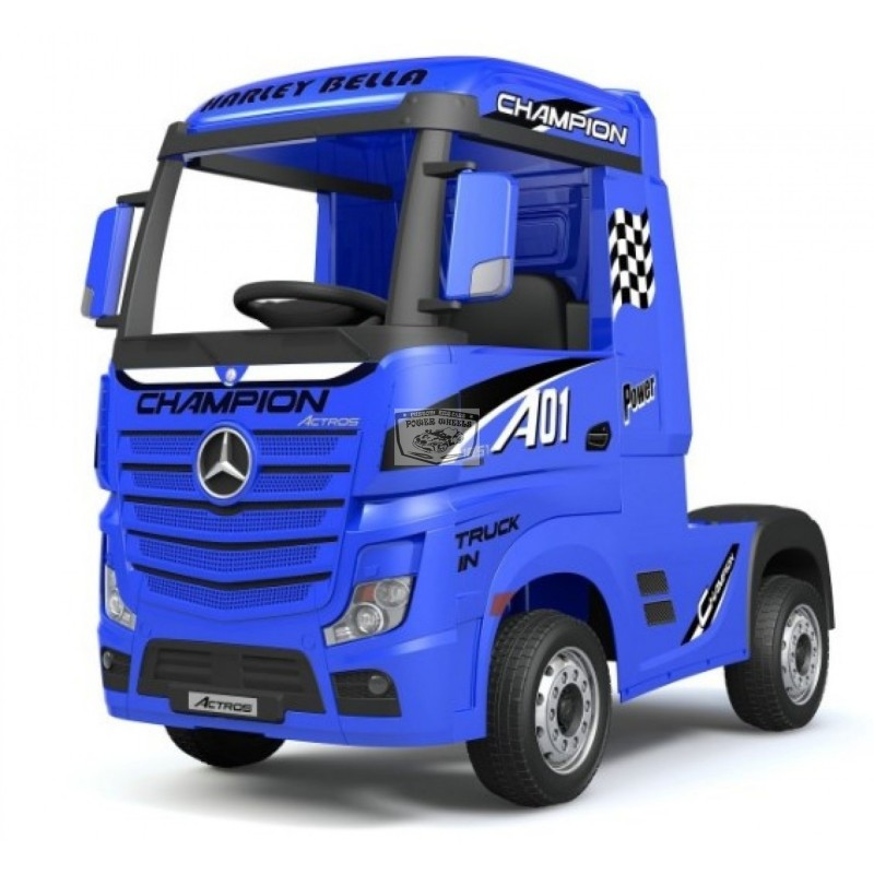 Mercedes Actros BLAUW 2x12V 2.4G ELEKTRISCHE VRACHTAUTO