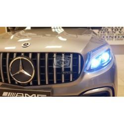 Mercedes GLC63S AMG coupe 2.4G 12 volt 1 persoons metallic zilver elektrische kinderauto
