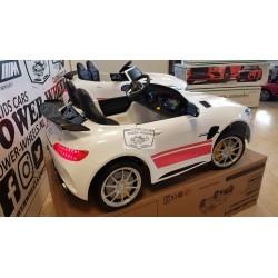 CUSTOM MERCEDES AMG GTR ELEKTRISCHE KINDERAUTO 12V 2.4G WIT ROZE 2P