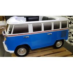 VW Samba T1  kinderbus 12 volt 2.4G RC BLAUW