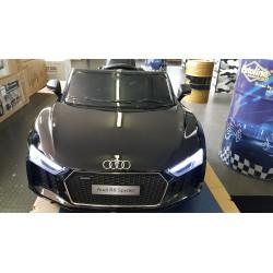 Audi R8 Spyder elektrische kinderauto 12V 2.4G metallic zwart