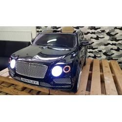 Bentley Bentayga ELEKTRISCHE kinderauto 12 volt 2.4G RC METALLIC ZWART