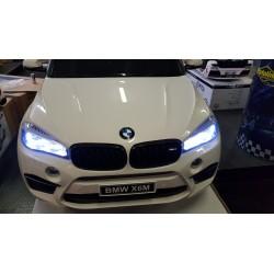 BMW X6 M elektrische kinderauto 2 persoons 2.4G 12V wit