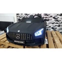 AMG  GTR Mercedes kinderauto 2 persoons 2×12 volt 2.4G RC 4WD MATZWART