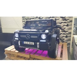 CUSTOM MADE MAYBACH G650 ELEKTRISCHE KINDERAUTO LED ROZE 12V 2.4G