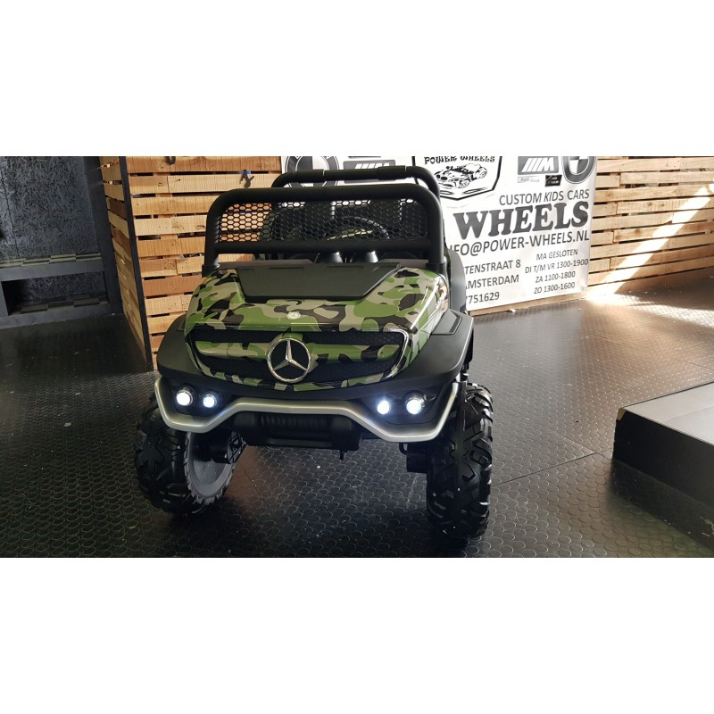 MERCEDES UNIMOG CAMOUFLAGE 4×4 2 PERSOONS 12V 2.4G