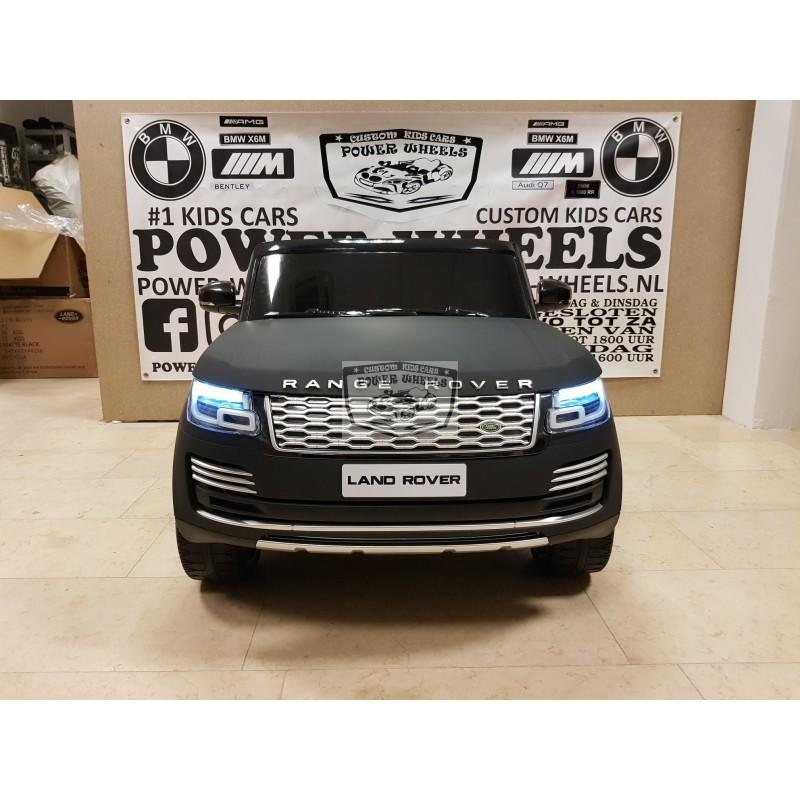 Range Rover HSE 2X12V 2.4G 2 persoons ELEKTRISCHE Kinderauto MAT ZWART