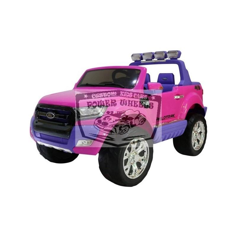 Ford Ranger elektrische kinderjeep 2.4G 12 volt roze