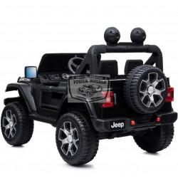 Jeep wrangler Rubicon 12v 2.4g metallic zwart elektrische auto