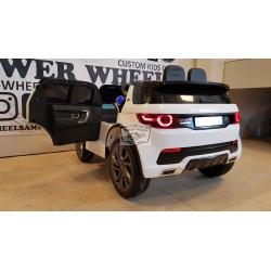 Elektrische kinderauto Land Rover Discovery MP4 12V 2.4G wit