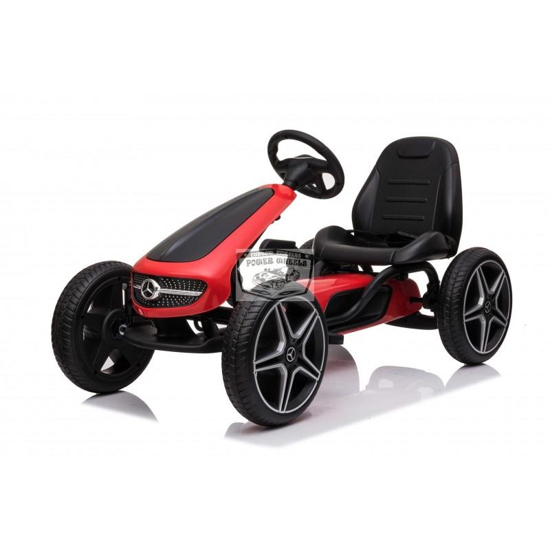 go-Kart Mercedes Skelter rood/zwart