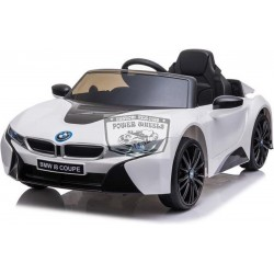 Elektrische kinderauto BMW i8 COUPE12V 2.4G RC 1 persoons wit