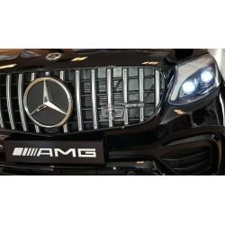 Mercedes GLC63S AMG coupe 2.4G 12v zwart elektrische kinderauto