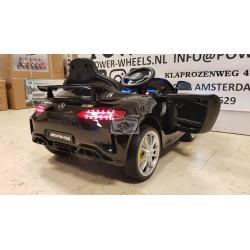 MERCEDES AMG GTR 12V 2.4G METALLIC ZWART 1 PERSOONS
