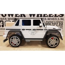 kinderauto Mercedes-Benz G650 Maybach 1 persoons wit