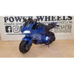24 volt elektrische kinder racemotor  mini bike blauw