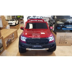 Ford Raptor ELEKTRISCHE KINDERAUTO 12V 2.4G 4WD METALLIC ROOD