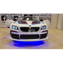 CUSTOM BMW M6 GT3 ELEKTRISCHE KINDERAUTO 12V 2.4G BLAUW LED