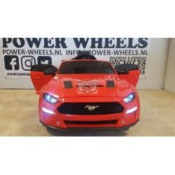 Ford Mustang GT 24 volt kinderauto drift rood