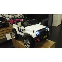 2 persoons Powerjeep wit 2x12v